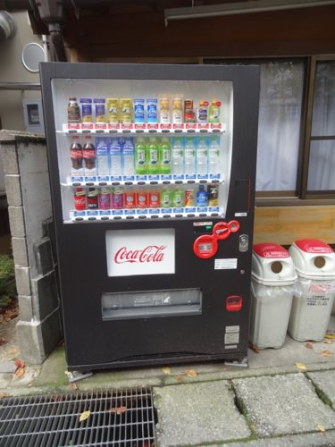 自動販売機も観光地仕様