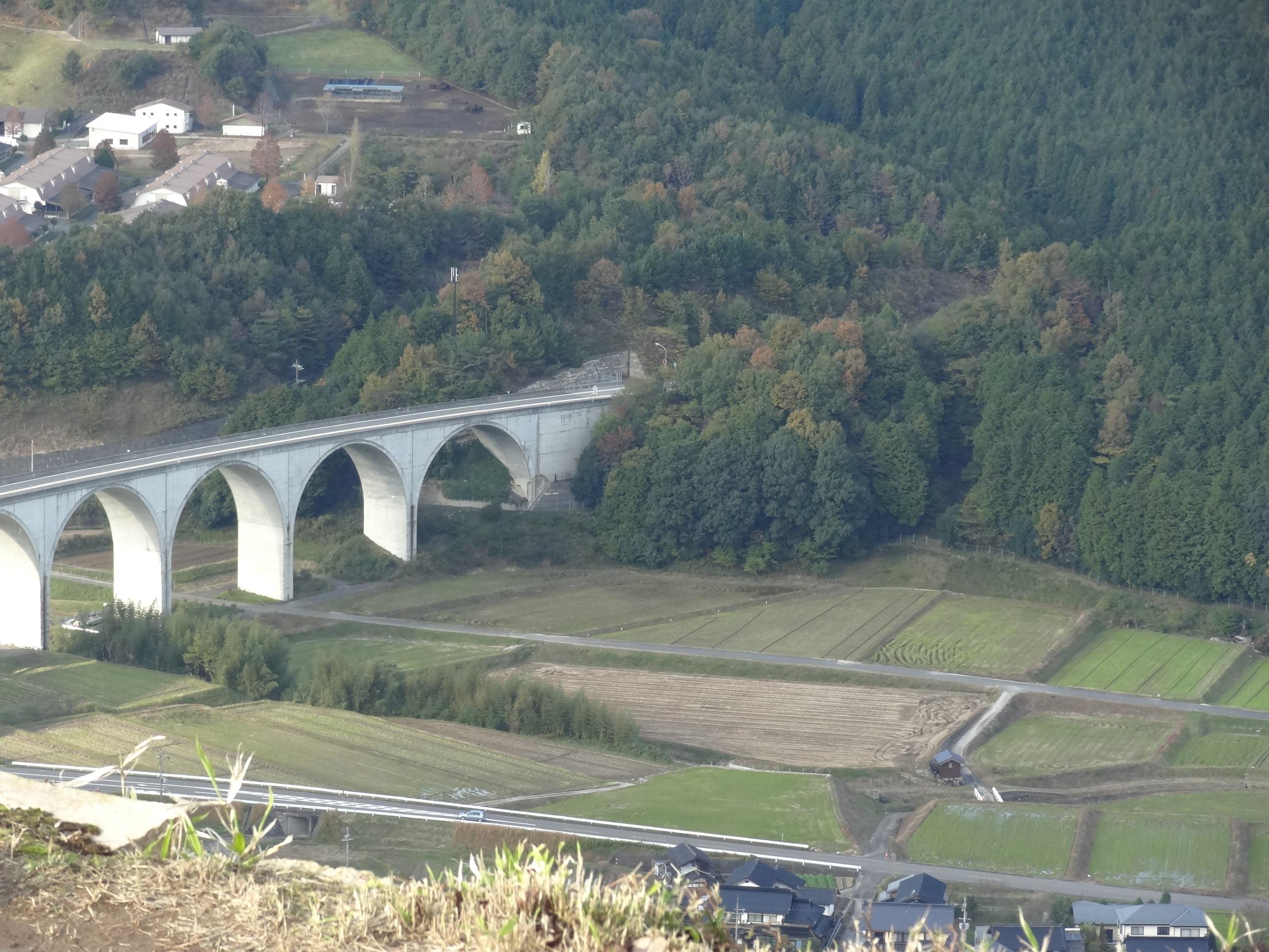 竹田城跡からの景色