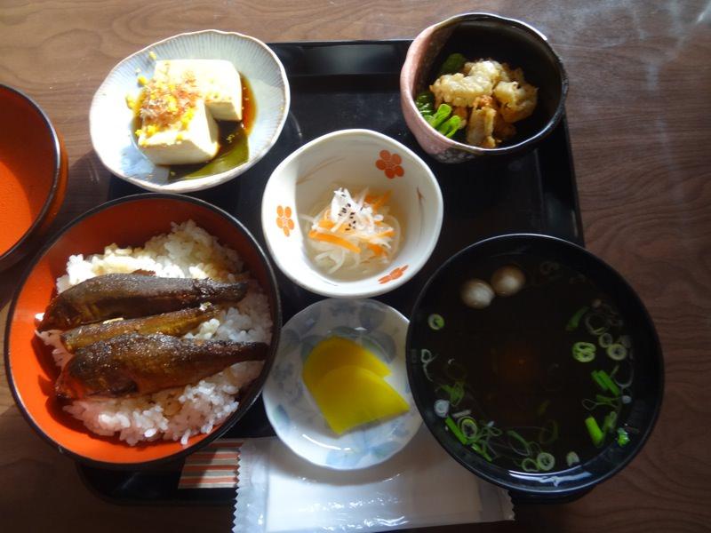 あゆ丼のセット