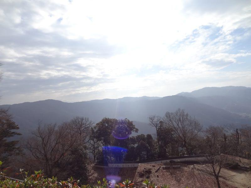 備中松山城からの景色 光が差す様子