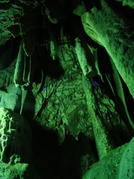 井倉洞にある鍾乳石