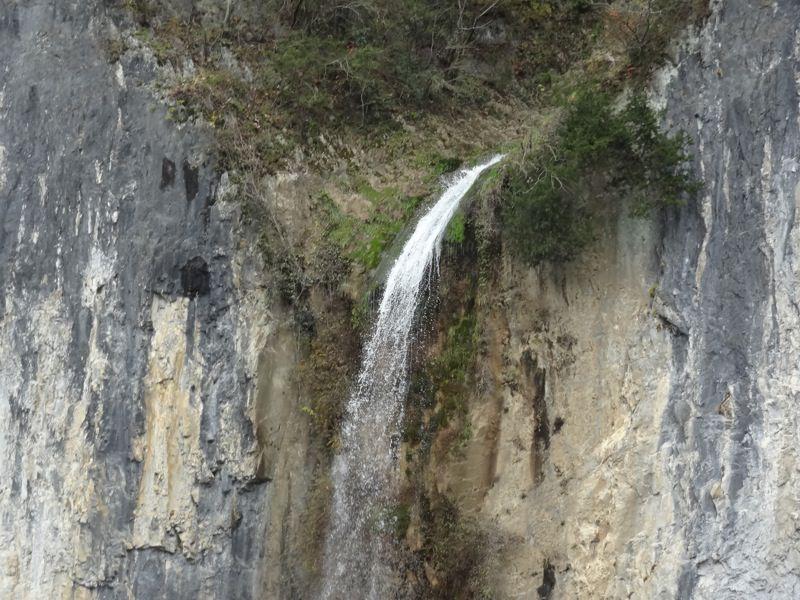 井倉洞の滝