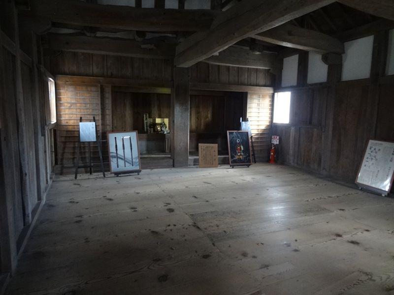 備中松山城の2階の様子