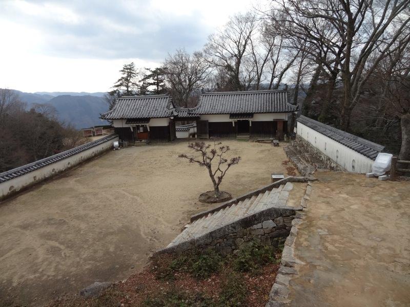 備中松山城から見下ろした景色