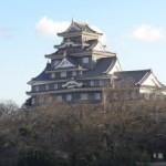 岡山城の展望階からの景色が素晴らしい!虹も見れました