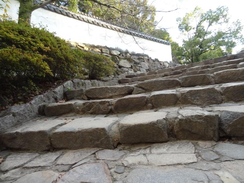 岡山城の石段