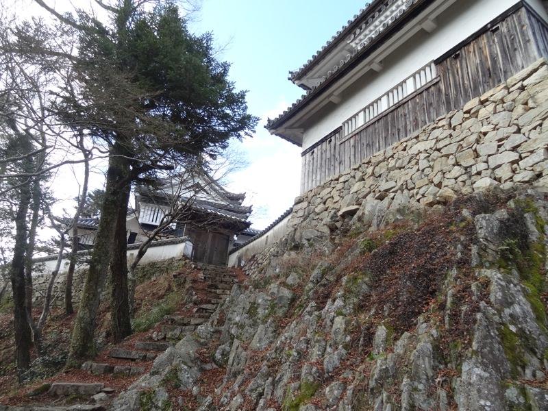 裏から見た備中松山城