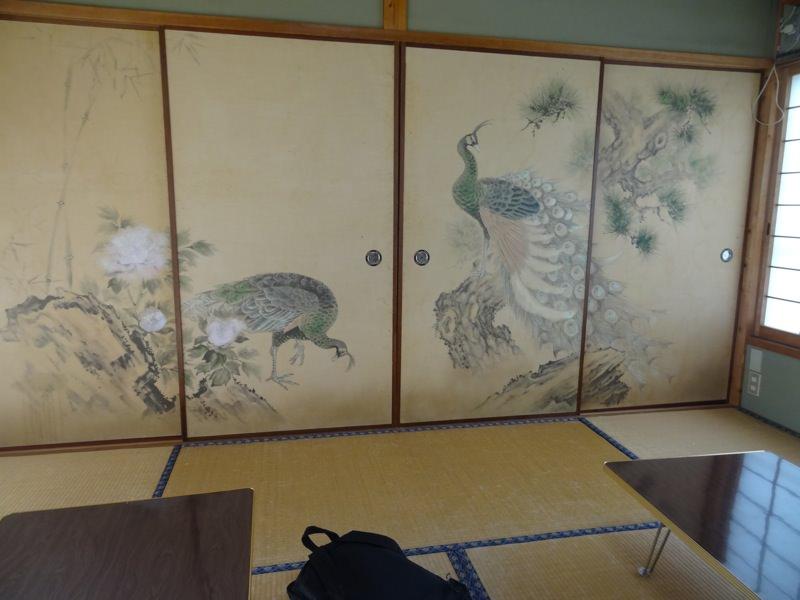 和室で食事しました