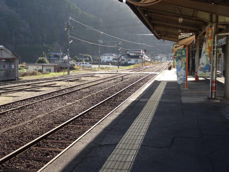 JR中国勝山駅からの景色1