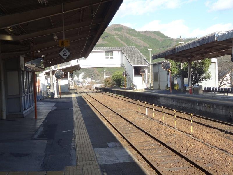 JR中国勝山駅からの景色2
