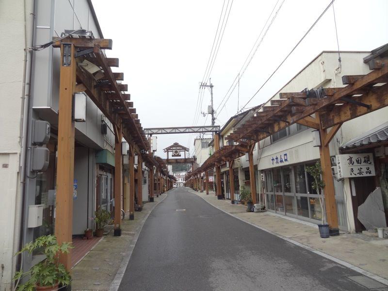 勝山新町の商店街