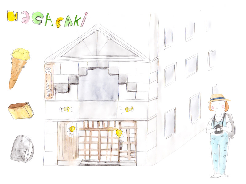 長崎インターナショナルホステルあかりの外観