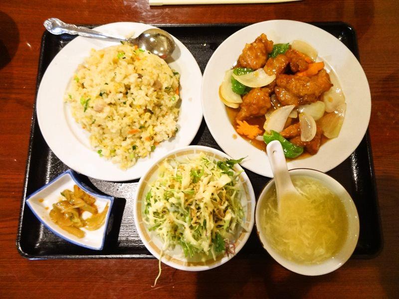 酢豚とチャーハンセット