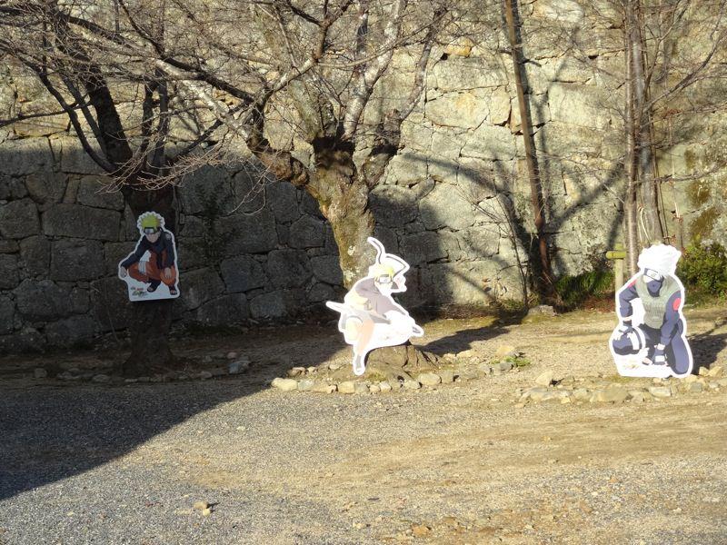 津山城にはなぜかNARUTOのキャラがたくさんいました