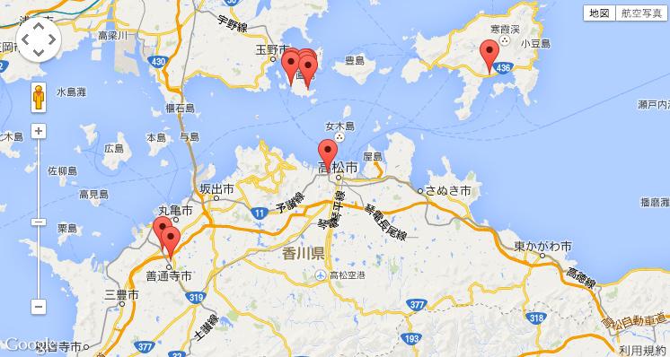 都道府県別のゲストハウスマップ