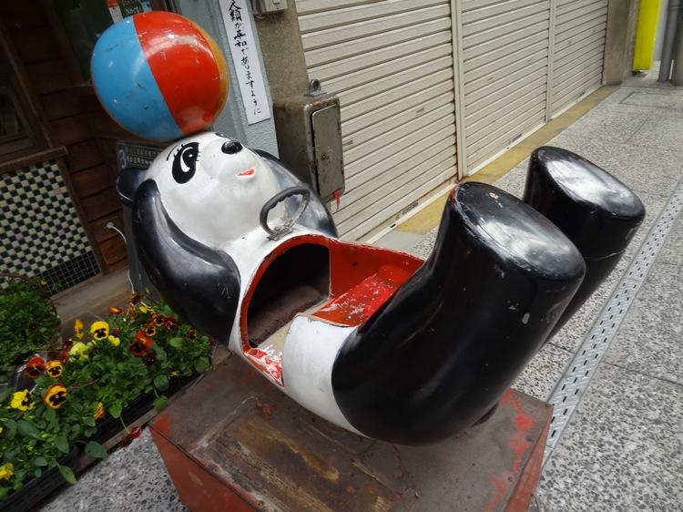 あくびカフェの名物パンダ