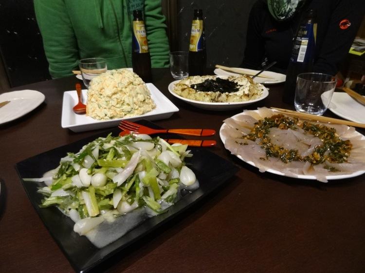 空音遊の夕食