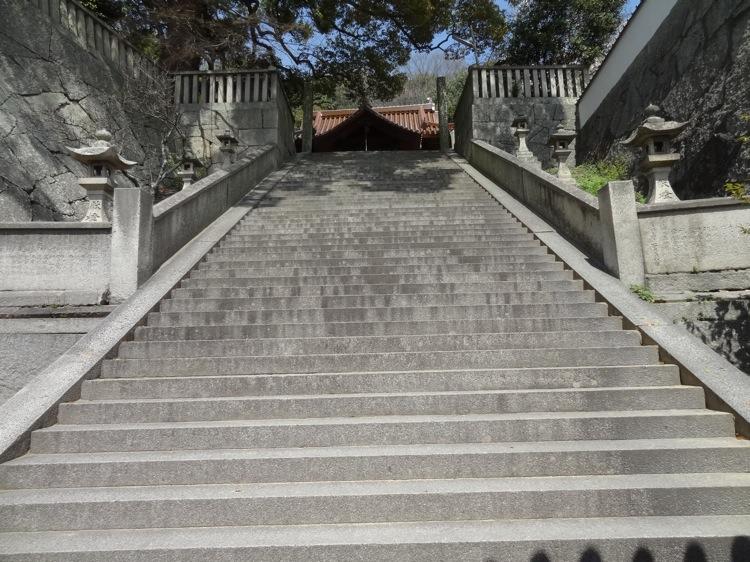 御袖天満宮の階段