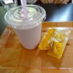 祖谷のかずら橋近くのカフェ「森のくまさん」のいちごスムージーが超美味しかった!