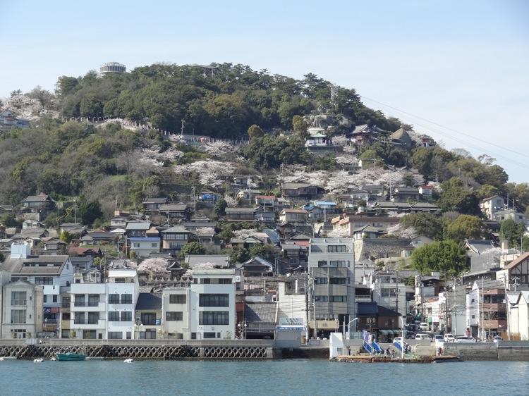 向島から見る尾道の景色
