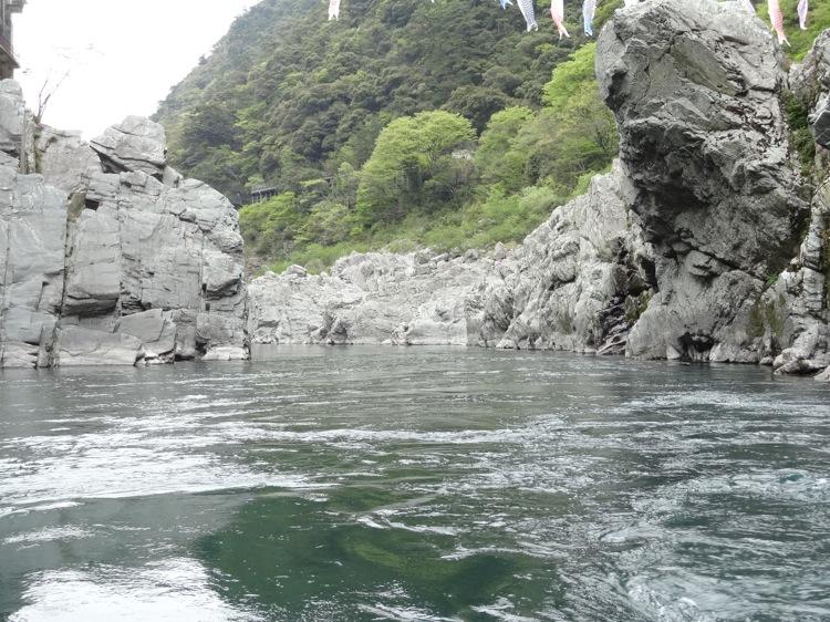 大歩危遊覧船から見える景色