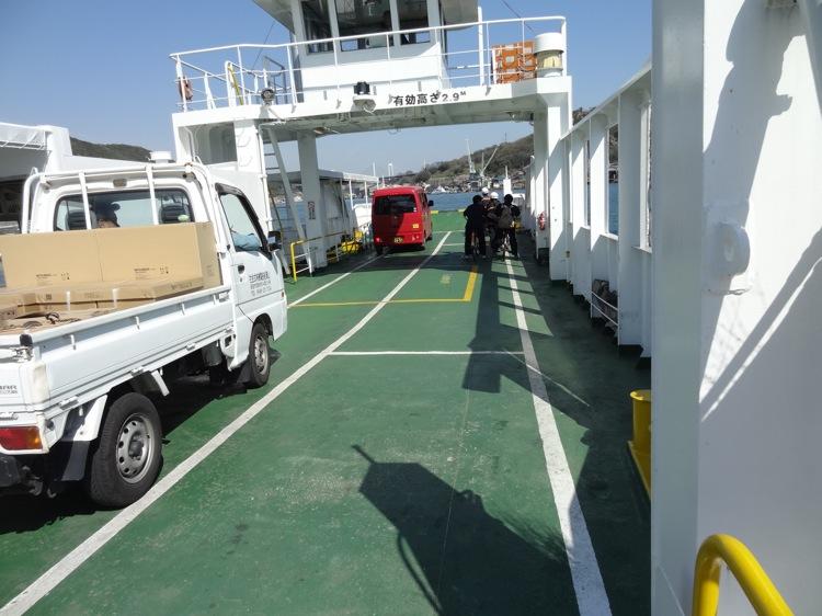 尾道渡船に乗船
