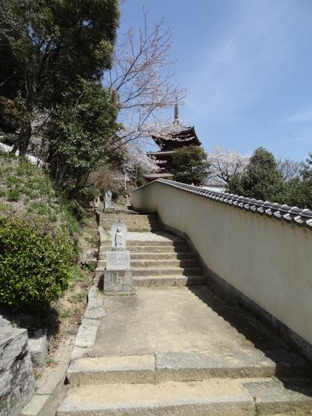 西国寺三重塔が近付いてきました
