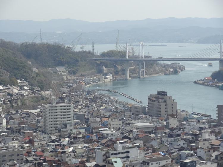 千光寺から眺める尾道の町並み