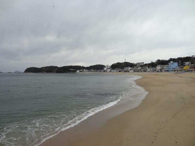 篠島 前浜の様子