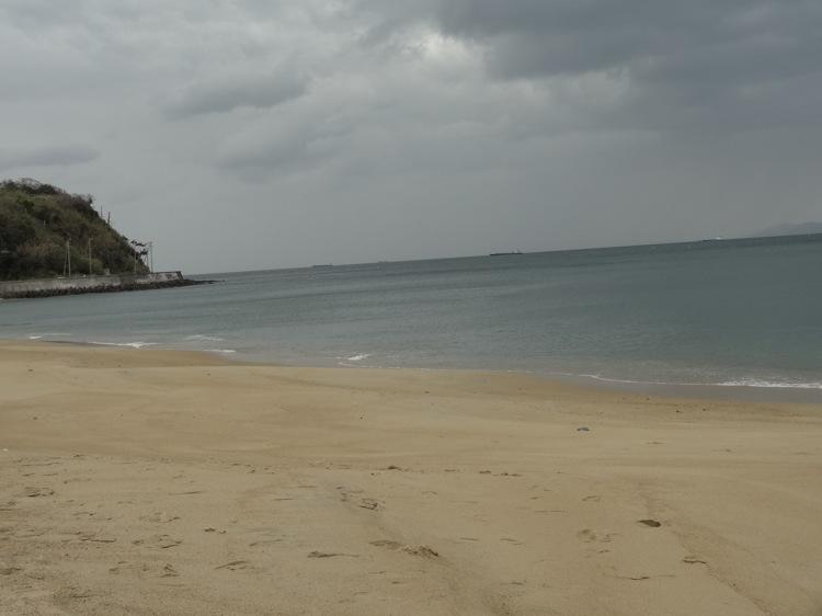 篠島の前浜 砂浜がきれい