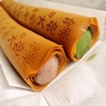 南知多の「文寿庵 飴文 時志店」で名物の大砲巻と出会い、あまりの長さに衝撃を受ける。しかも美味しい!