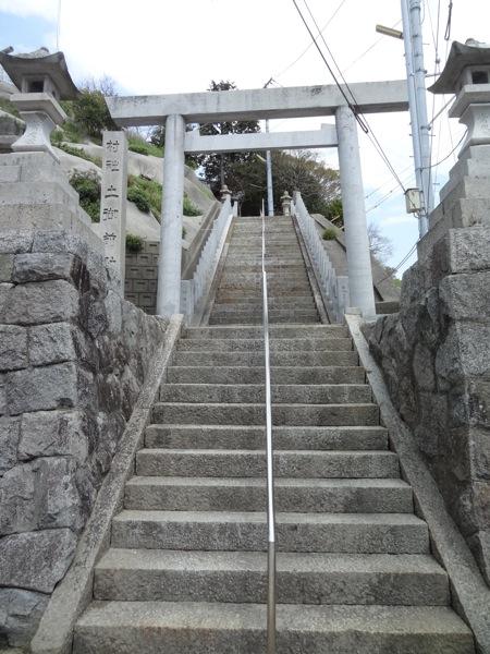 土御前神社に行く階段
