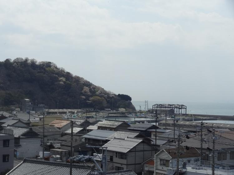 土御前神社から見える海の景色