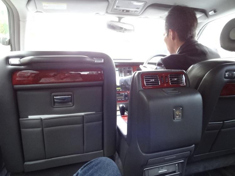 Uber タクシー内の様子