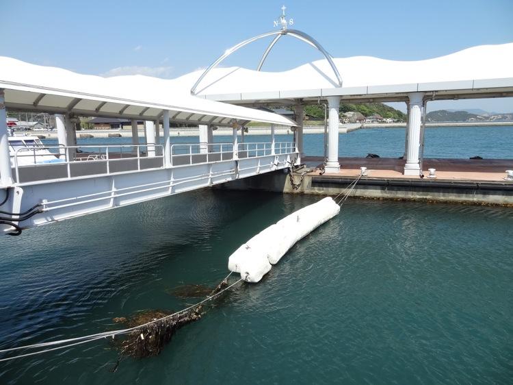 宇野駅 小型旅客船のフェリー乗り場
