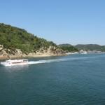 宇野港から直島ゆきのフェリーから見る景色のまとめ