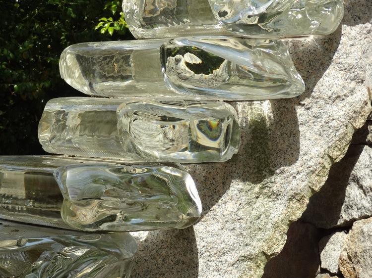 直島の護王神社 透明の階段
