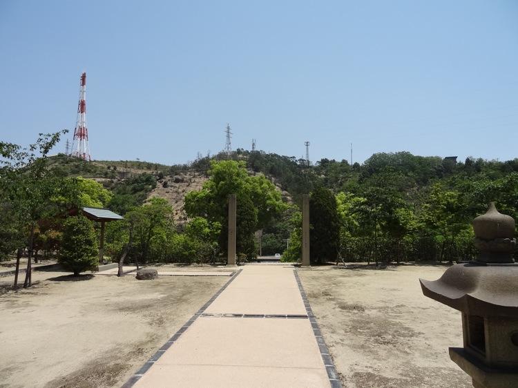 直島の山神社 本殿側から見る景色