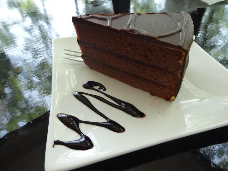 いっぷく茶屋のチョコレートケーキ