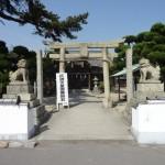 直島宮浦港すぐ近くの住吉神社は宮本梶平翁の像が印象に残る