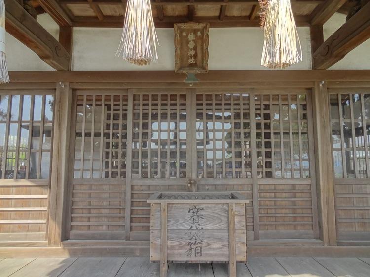 直島 住吉神社の賽銭箱