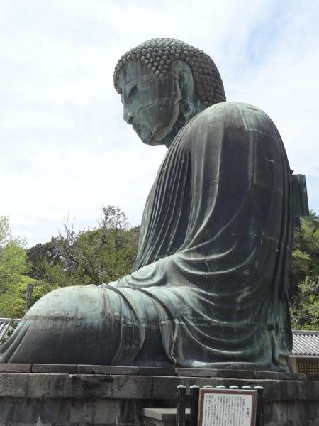 真横から見る鎌倉大仏