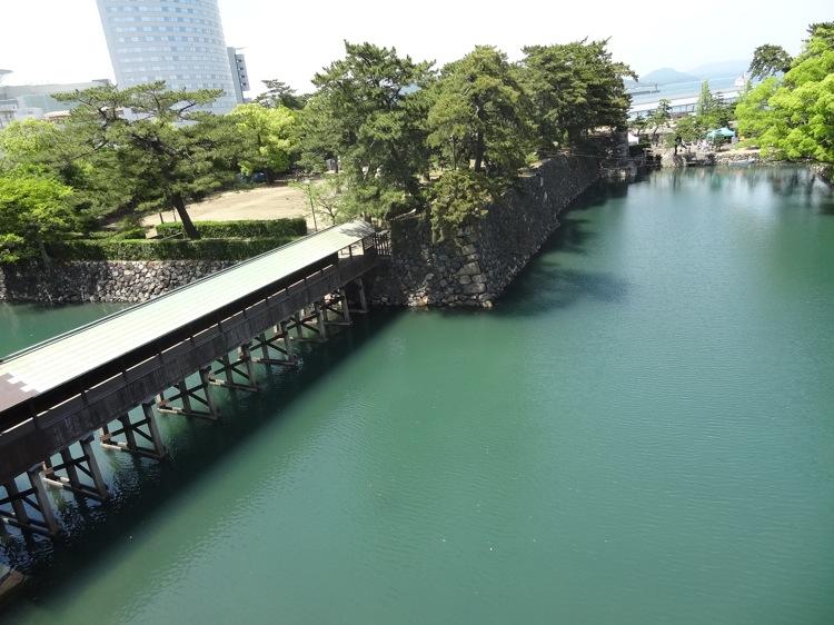 高松城跡から見下ろす景色