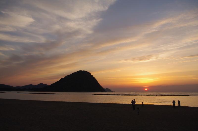 萩・暁屋の近くのビーチ