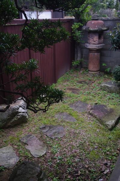 萩・暁屋の裏庭