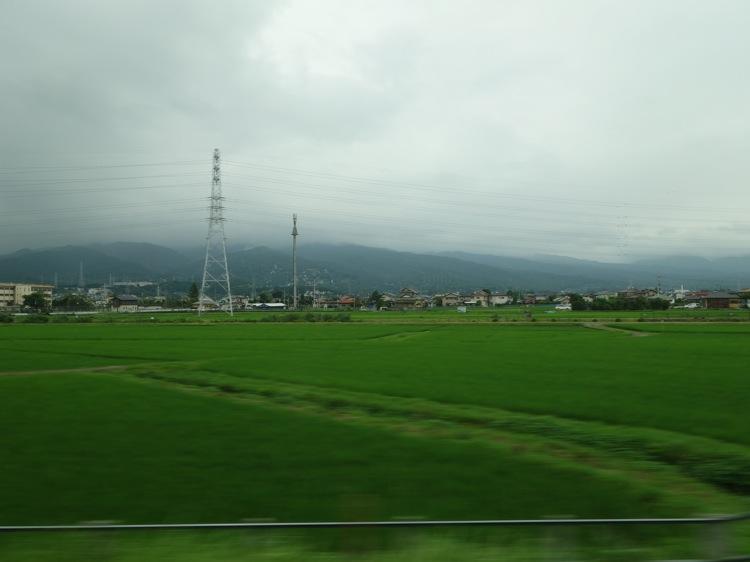 小田急ロマンスカーから見た景色
