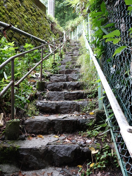 強羅近道の様子 ひたすら階段が続きます