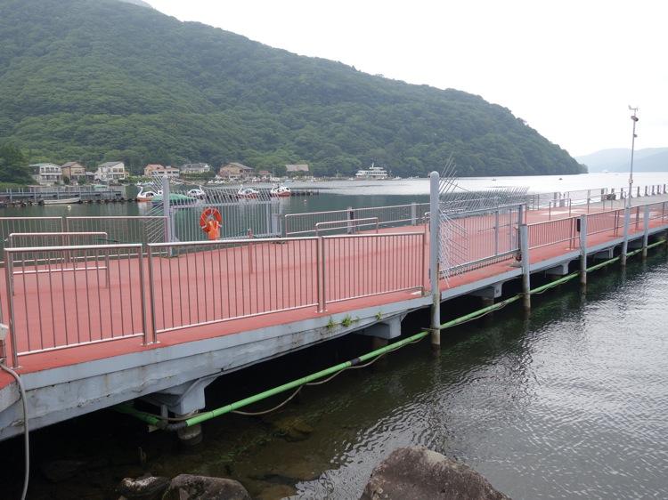 箱根海賊船フェリー乗り場の風景