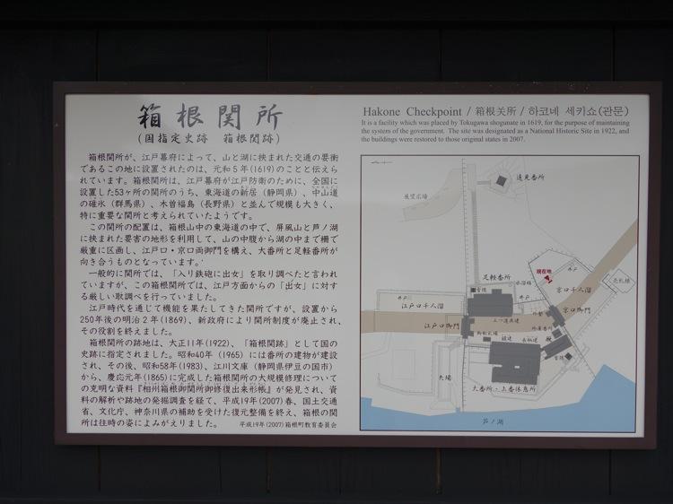 箱根関所についての案内