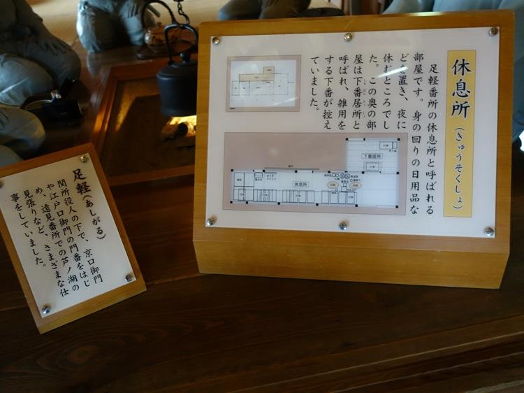 箱根関所 足軽番所の休息所
